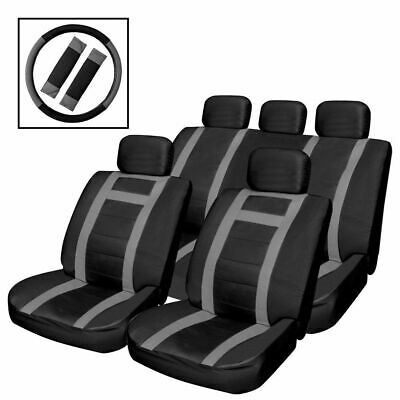 Heavy Duty Black Leather Look Car / Taxi  Seat Covers Set Rear Seats Full Set