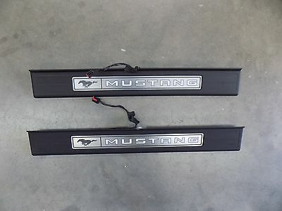 New Takeoff 2015 2016 2017 Ford Mustang Sill Plates Scuff Plates (Pair)