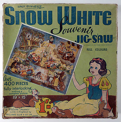 Blanche-Neige Disney Puzzle Snow White Souvenir Jig Saw Williams Ellis BE