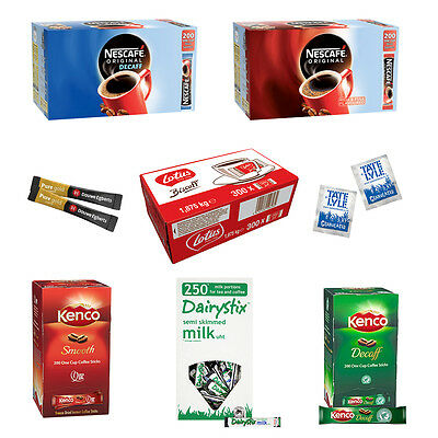 Portions Nescafe/Kenco/Douwe/Lavazza/Tetley/Sugar/Milk Lotus Biscuits P&P Offer