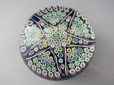 Rare Vintage Perthshire Millefiori Star Pattern Paperweight Signed 1977 P