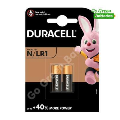2x Duracell MN9100 LR1 1.5V Alkaline Batteries 910A E90 N KN AM5 Security Remote
