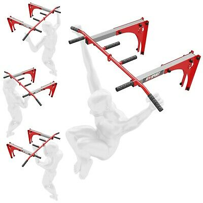 Wall Mounted Adjustable Iron Chin Up Push Up Pull Up  Bar Cross Fit K-Sport New