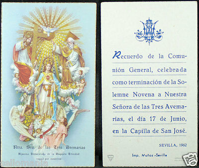 Old First Communion Remembrance Holy Card Year 1962 Andachtsbild Santini  Cc1113