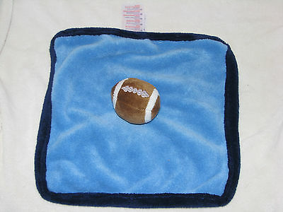 Babies R Us Blue Brown Football Security Blanket soft plush fleece Koala Baby
