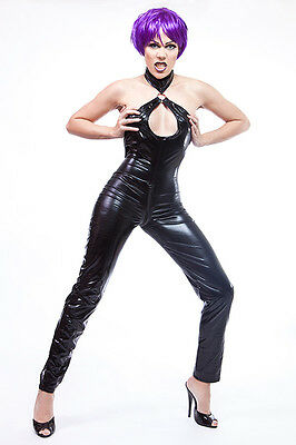 Lycra Catsuit in Lack/Latex look rückenfrei/ Open back Lycra Catsuit