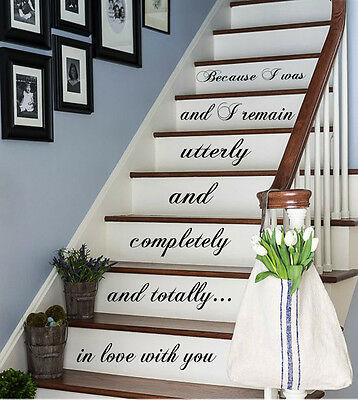 Love Decal Quote Staircase Decals Stairway Vinyl Sticker Stairs Decor Kk479
