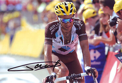 Jean-Christophe Peraud Signed 8X12 inches 2014 Tour De France AG2R Photo