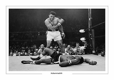 Muhammad Ali Boxing Legend  A4 Print Photo Cassius Clay Sonny Liston