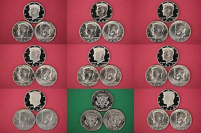 1971 1972 1973 1974 1976 1977 1978 1979 Kennedy Proof & Uncirculated Coins