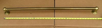 Vintage Antique Large Brass Towel Bar Heavy duty 1 of 4