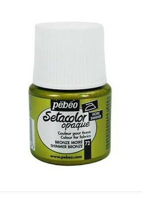 Pebeo Setacolor Opaque Fabric Paint - Shimmer Bronze