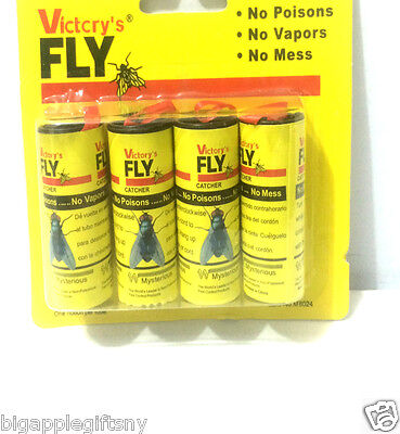 12 Rolls Insect Bug Fly Glue Paper Catcher Trap Ribbon Tape Strip Sticky Flies