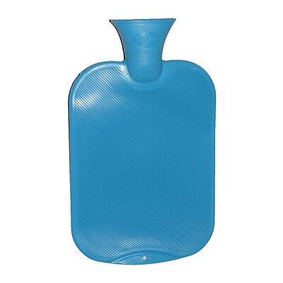 Fashy Classic Single-Ribbed Hot Water Bottle - Turquoise 2L Water Bottle
