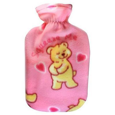 Fashy Hot Water Bottle with Bear Squeeze Me Fleece Plushie Cover 2L Water Bottle