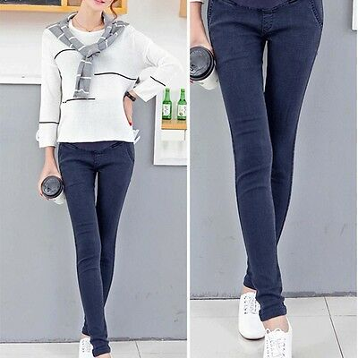 New Pregnant Women Skinny Maternity Trousers Cowboy Pencil Abdominal Jeans Pants