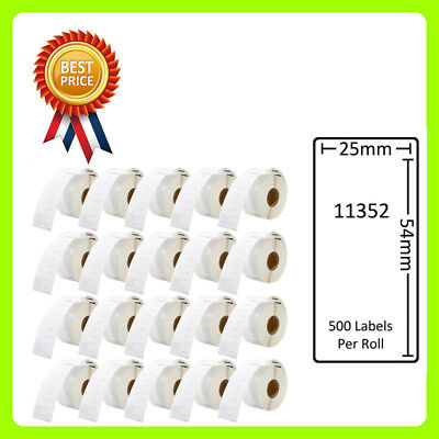 20 Rolls 11352 Labels Compatible for Dymo/Seiko 25 x 54mm 500 labels per roll