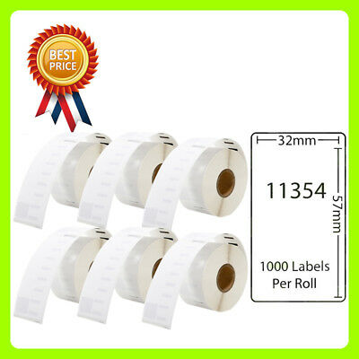 6 Rolls 11354 Labels Compatible for Dymo/Seiko 57 x 32mm 1000 labels per roll