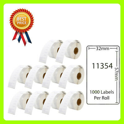 10 Rolls 11354 Labels Compatible for Dymo/Seiko 57 x 32mm 1000 labels per roll
