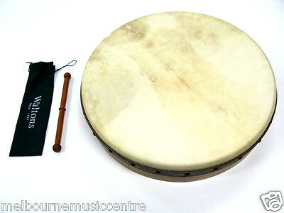 "WALTONS 18"" PRO DELUXE BODHRAN 5 Ply Ages Oak Shell *Premium Quality Head* NEW!"