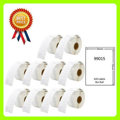 10 Rolls 99015 Labels Compatible for Dymo/Seiko 54 x 70mm 320 labels per roll