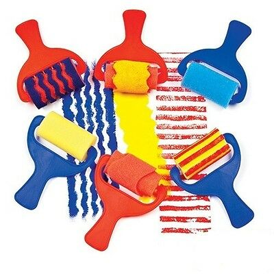 Childrens Paint Foam Brushes & Rollers Assorted Foam Rollers Pack of 6