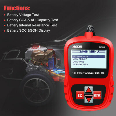Ancel BST200 Portable 12V Battery Load Tester Battery System Analyzer