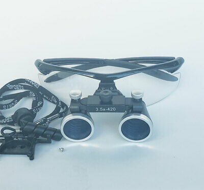 3.5X 420mm Dental Surgical Binocular Loupes Glasses Lens Magnifier Dentist