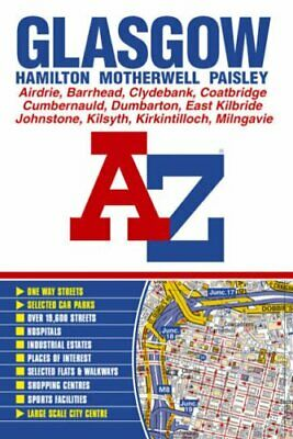 Glasgow Street Atlas by Geographers A-Z Map Company Spiral bound Book The Cheap