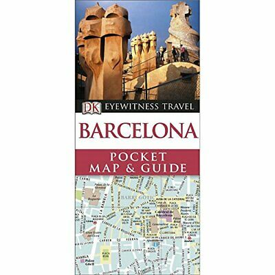 DK Eyewitness Pocket Map and Guide: Barcelona, DK Book The Cheap Fast Free Post