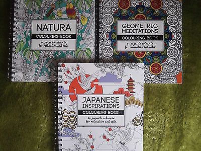 Adult Colouring Books Geometric, Japanese, Natura Colouring Books by West Design