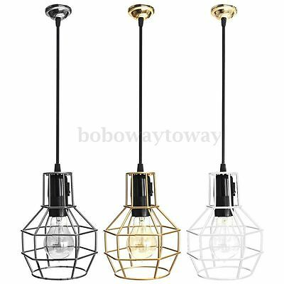 1 3m abat jour lustre suspendue cage douille vintage pr e27 edison ampoule lampe eur 14 24. Black Bedroom Furniture Sets. Home Design Ideas