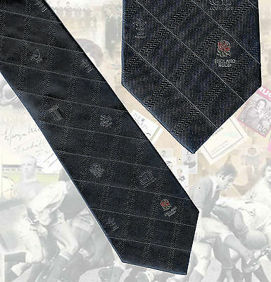 England Player Rugby Tie - Six Nations - Circa 2003