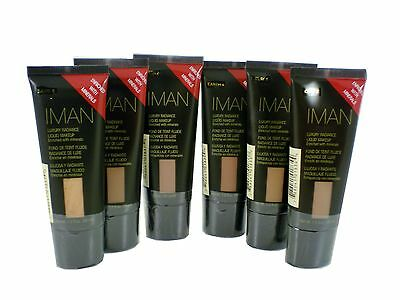IMAN luxury radiance liquid makeup foundation with mineral 30ml choose shade