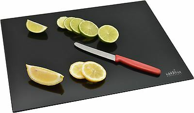 Harbour Housewares Glass Kitchen Chopping Board - Black - (400mm x 300mm)
