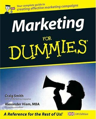 Marketing for Dummies, UK edition by Alexander Hiam Paperback Book The Cheap