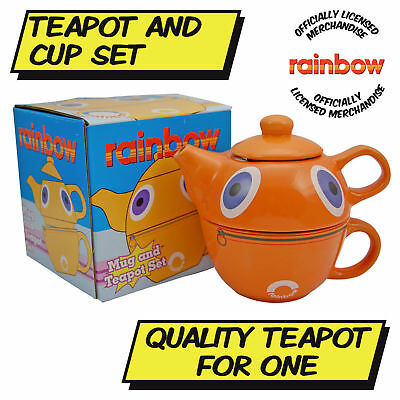Rainbow Zippy Teapot And Cup Set - Official
