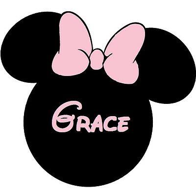 """Minnie Mouse Head Iron On Transfer 5 /""""x 5.25/"""" for LIGHT Colored Fabric"""