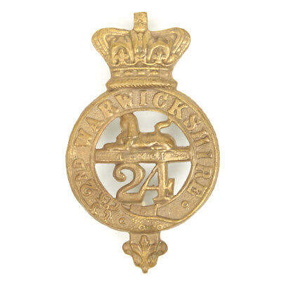 British Zulu War 2nd Warwickshire 24th Regiment of Foot Cap Badge