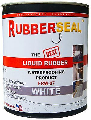 Rubberseal Liquid Rubber Waterproofing Roll On White 16oz - New