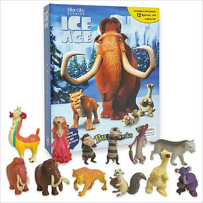 Ice Age Busy Book - 12 Figures And A Playmat Brand New