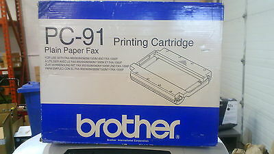 Genuine Brother PC-91 Printing Cartridge for Fax-1000P, IntelliFax-900,