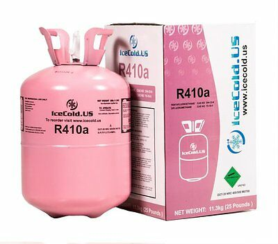 410a, R410a Refrigerant 25lb tank. New, Full and Factory Sealed Ships today.