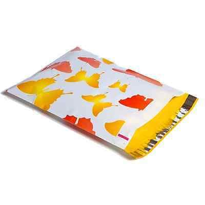 25 10x13 Butterflies Designer Mailers Poly Shipping Envelopes Boutique Bag