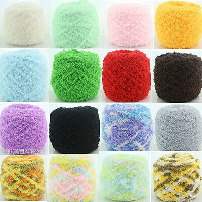 100g/Skein Super Soft Knitting Chunky Hand-knitted Baby Wool Yarn Ball 16 Colors