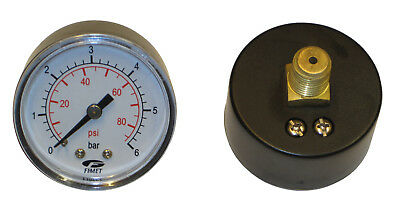 Manometer 6 Bar, Coaxial, for Pressure Boiler and Expansion Tanks