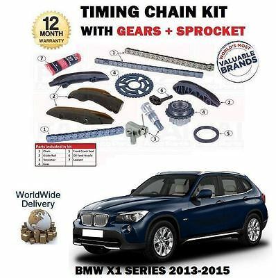 For Bmw X1 E84 Sdrive Xdrive 16D 18D 20D 2013-2015 Timing Cam Chain Kit + Gears