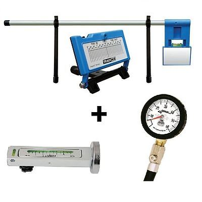 Trackace Laser Wheel Tracking Alignment + Trakrite Camber + Tyre Pressure Gauges