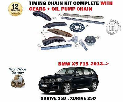 For Bmw X5 Sdrive Xdrive 25D 218Bhp 2013-> Timing Chain + Gears + Oil Pump Kit