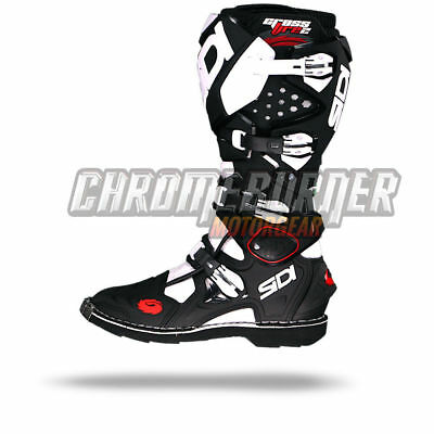 SIDI Crossfire 2 Motorcycle Boots Black White 2016, NEW